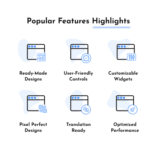 Popular Features Highlights - Affiliate Elements for Elementor