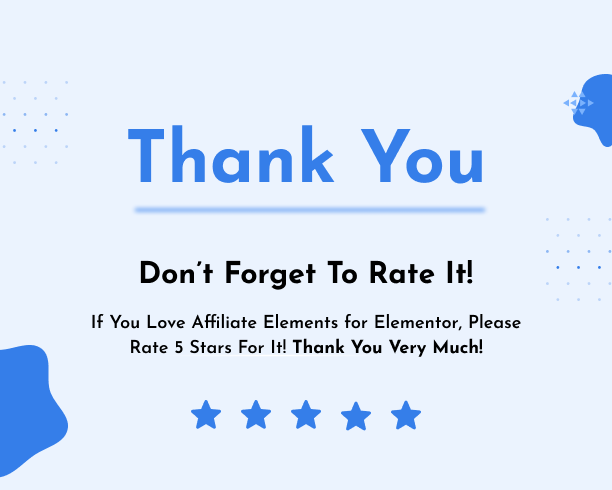 Thank You - Affiliate Elements for Elementor