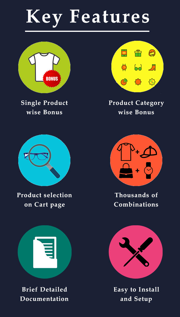 Key Features of  Bonus Product for WooCommerce