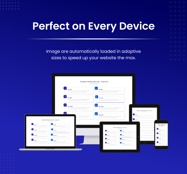 Perfect On Every Device - Item Lists Pro for Elementor