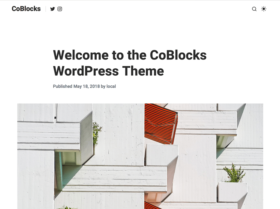 CoBlocks - Gutenberg WordPress theme for writers