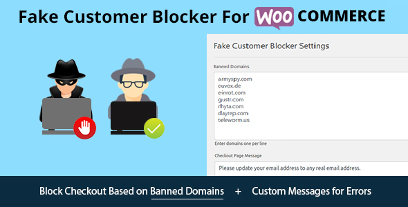 Fake Customer Blocker for WooCommerce