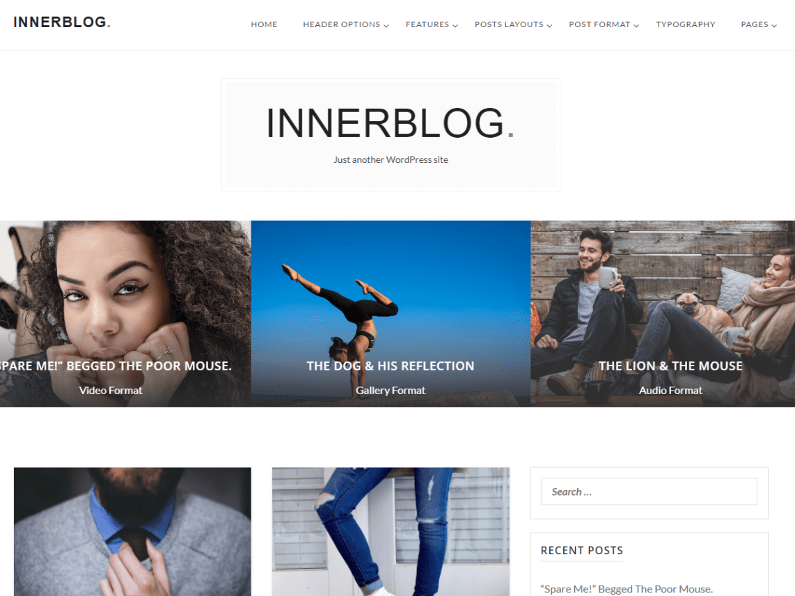 InnerBlog - Free WordPress Blog Theme for Bloggers