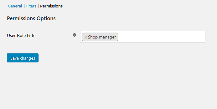 Permissions Settings - Bonus Product for WooCommerce