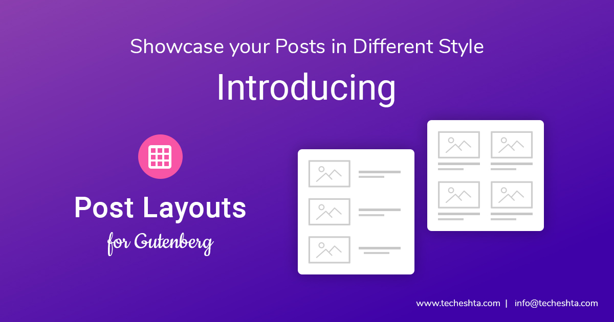 Introducing Post Layouts for Gutenberg
