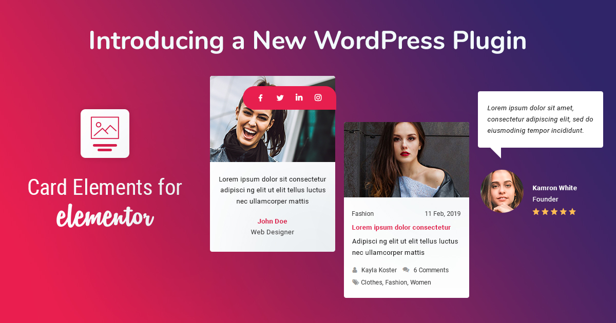 Introducing a New WordPress Plugin - Card Elements for Elementor