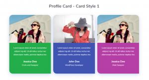 Profile Card - Card Style 1