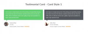 Testimonial Card - Card Style 1
