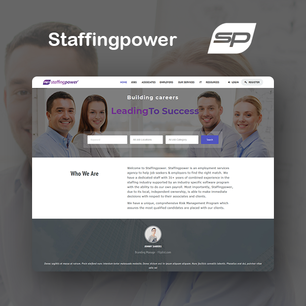 Staffing power Portfolio Page