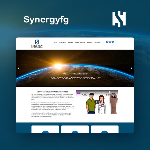 Synergy Financial Group Portfolio Page