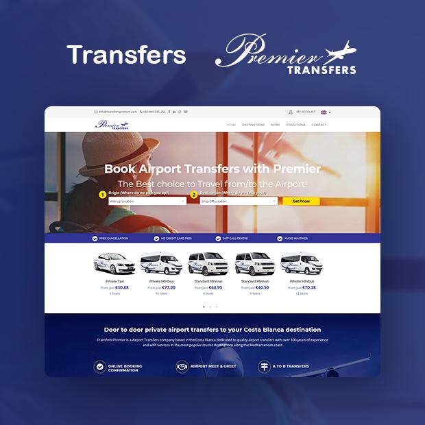 Transfers Premier Portfolio Page