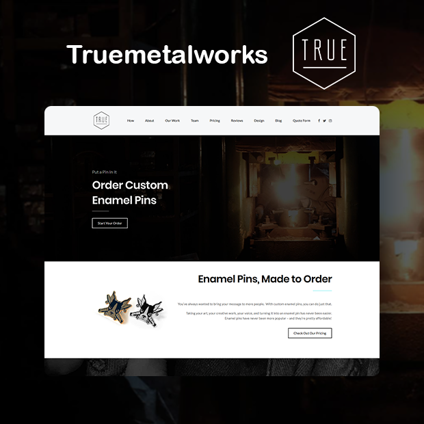 True Metal Works Portfolio Page