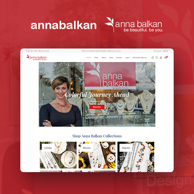 Anna Balkan Jewelry Portfolio Page