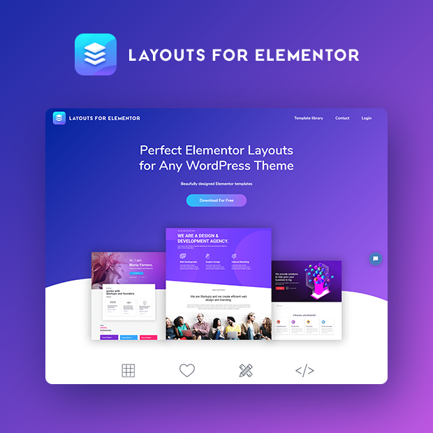 Layouts for Elementor Portfolio Page