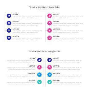 Timeline Item Lists