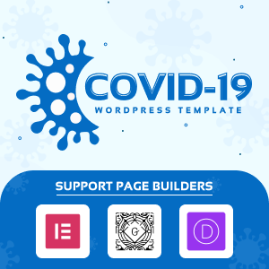 COVID-19 Page WordPress Template Logo