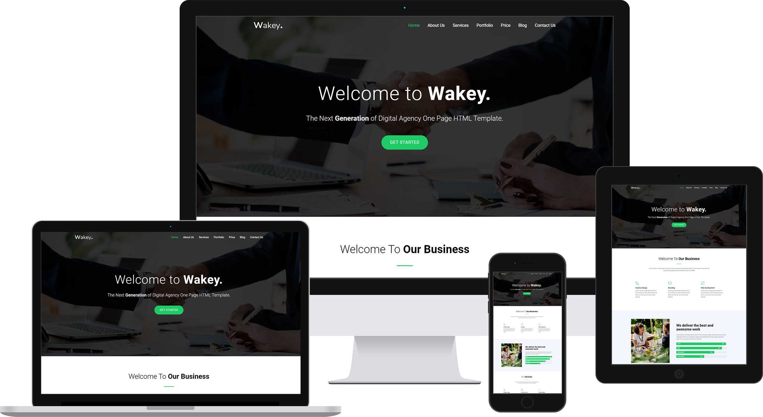 Wakey - Digital Agency Page HTML Template Banner