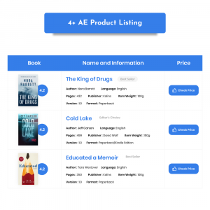 AE Product Listing